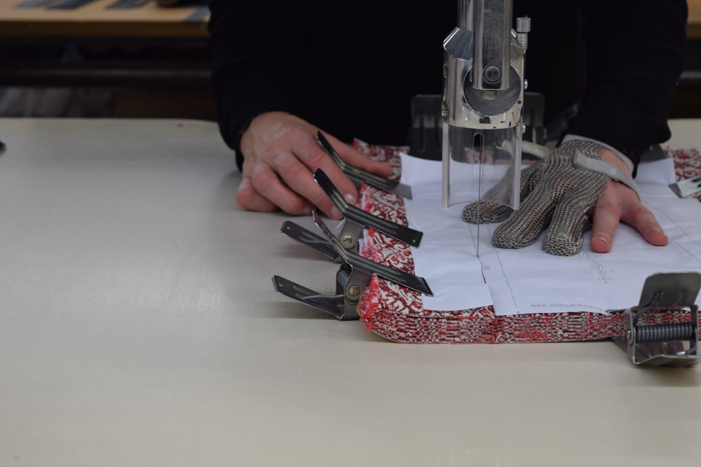 découpe tissu atelier de chizé en France