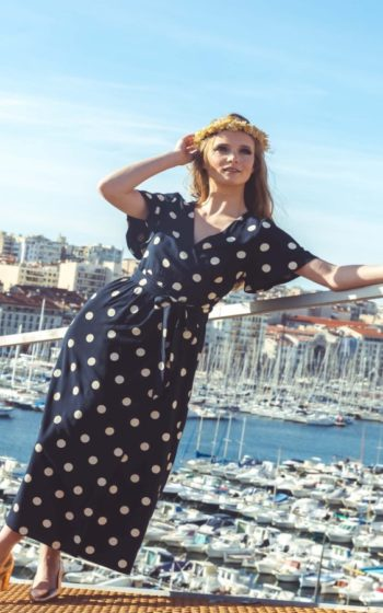Robe à pois demi mesure made in France