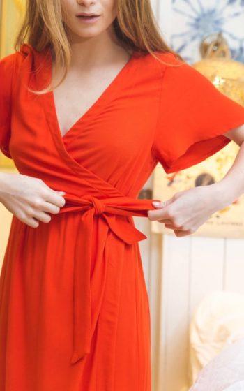 Robe rouge demi mesure made in France