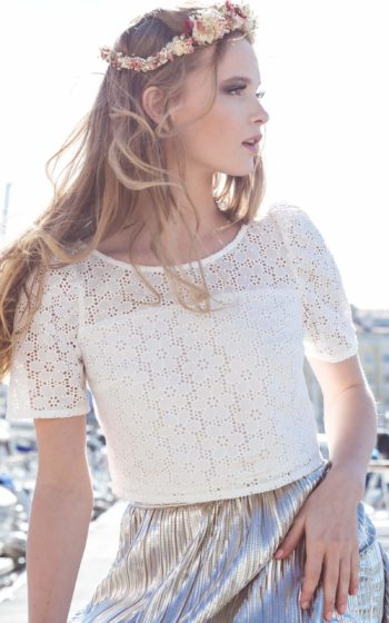 Top blanc made in France