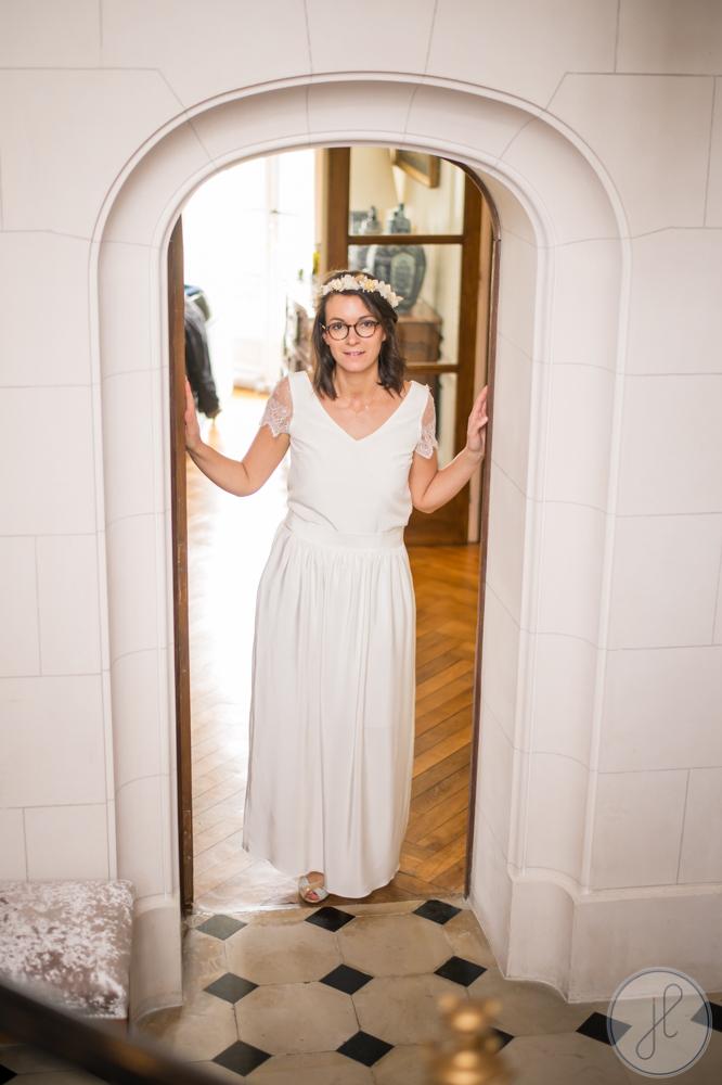 jupe longue blanche made in france et demi-mesure